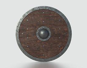 Scandinavian Battle Shield 3D asset game-ready