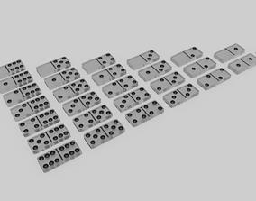Glass Domino Set 28 pieces 3D asset