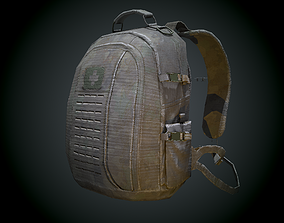 3D model game-ready Tactical Back Pack