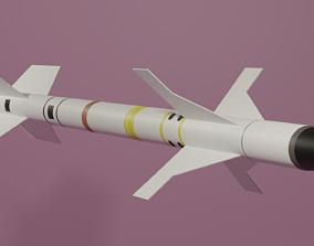 AIM-9 Sidewinder Missile 3D asset