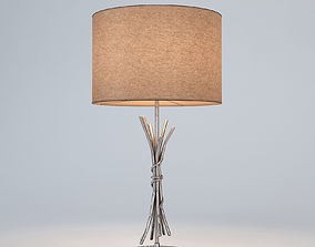 Chelsom Silver Sculpture Table Lamp 3D