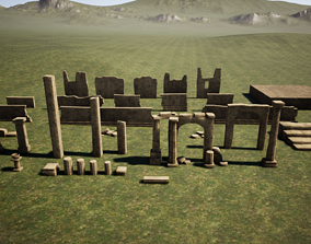 3D model Temple ruins construction kit