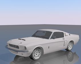 3D asset Shelby Cobra gt500
