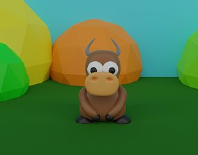 3D asset A toy type cow