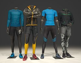 Man mannequin Nike pack 1 3D model