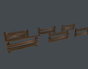Fence 3D model realtime PBR