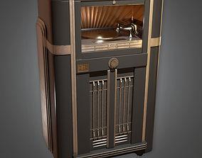 Jukebox Art Deco - PBR Game Ready 3D model