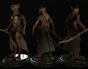3D model Fantasy cat