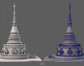 3D asset Pagoda V03