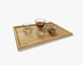 Glass Tea Set 3D