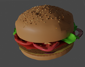 bun Burger 3D model