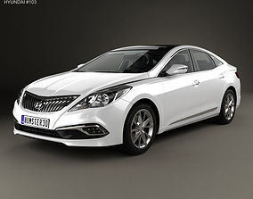 Hyundai Grandeur HG Hybrid with HQ interior 2014 3D model