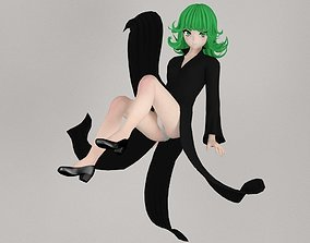 Tatsumaki anime girl pose 02 3D