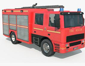 3D model realtime Fire Truck - Rescue Machine