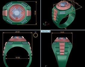 3D print model Ring man modern diamond RM-DRO-003