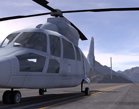 Eurocopter HH-65 Dolphin 3D model