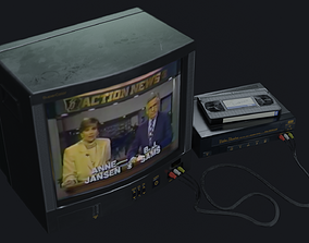 TV Set - PBR Game Ready 3D model
