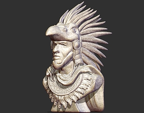 Aztec Warrior Bust 3D printable model