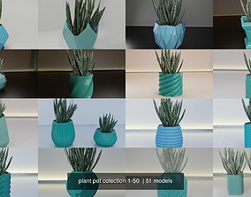 3D model plant pot colection 1-50