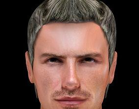 David Beckham hair 3D model