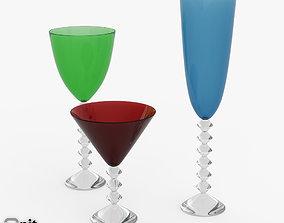 Baccarat Vega 3 wine glasses 3D model wine-glass