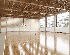 Basketball gymnasium 3D