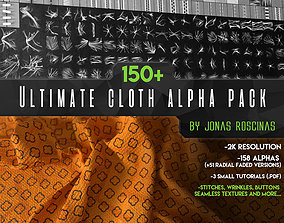 150 Ultimate Cloth Alpha Pack by J Roscinas 3D model