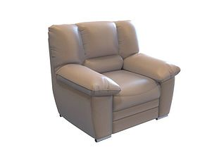 Recliner leather loveseat 3D