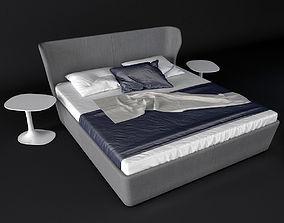 3D model B B Italia PAPILIO bed