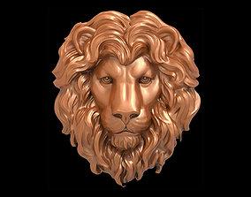 3D printable model Lion head bas-relief