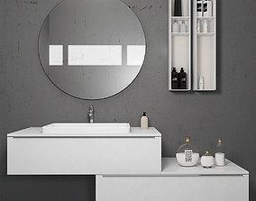 Bathroom furniture set Arcom eLy 5 3D model