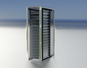 3D model Server Rack Server Rack 42U Width 600mm Rack