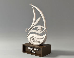 3D print model Egypt Nile Boat Trophy