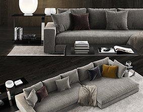 Minotti Hamilton Sofa 2 3D
