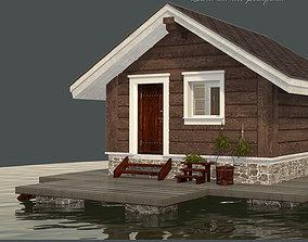 Bath Sauna House 3D model