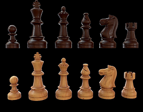 Staunton chess set - Updated 3D