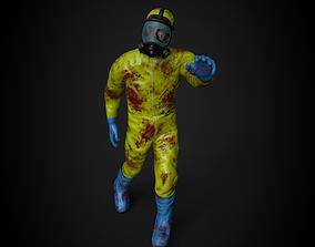 Hazmat Zombie 3D asset rigged