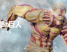 Attack on Titan - High Poly - Armored Titan 3D model 1