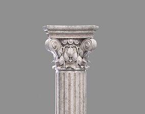 Corinthian Column with 2 texture sets 3D