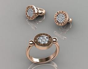 Ring and Earrings 69 3D print model