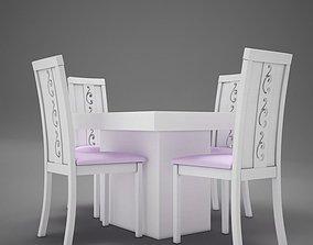 Dinning White 3D