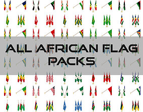 3D model All African Flag Packs