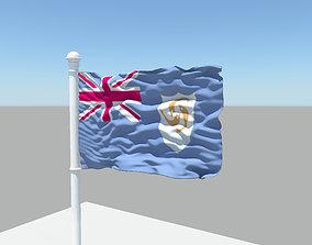 3D Anguilla Flag