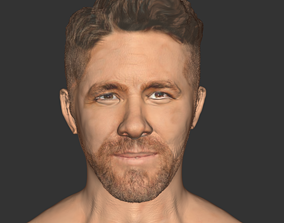 Ryan Reynolds dead pool beard head VR / AR ready 3