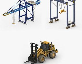 Dock Vehicles Pack 3D asset