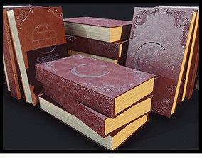 3D asset Turkish Old Book PBR