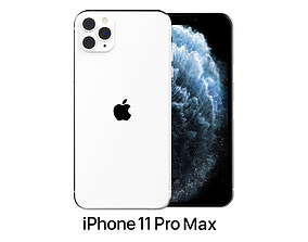 Apple iPhone 11 Pro Max Silver 3D model