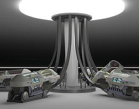 Sci Fi Cryogenic Pod - Cryopod - 3D