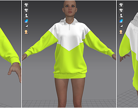 3D Marvelous Designer Garment - Light Green Sweater