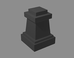 3D print model chess pieces pawn